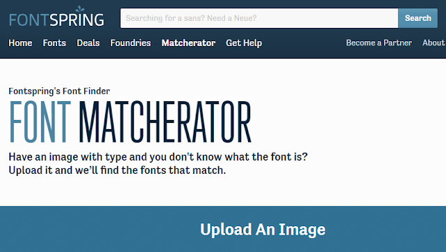 Font Matcherator - Tool online per scoprire il nome di un font