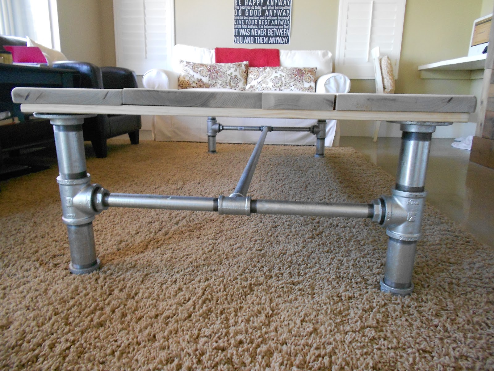 The Summer House: Galvanized Pipe Coffee Table