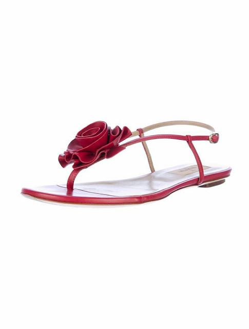 Flower applique sandal