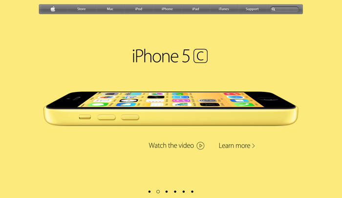 homepage sito apple con iPhone color