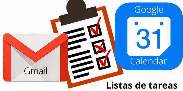Listas de tareas Gmail Google Calendar