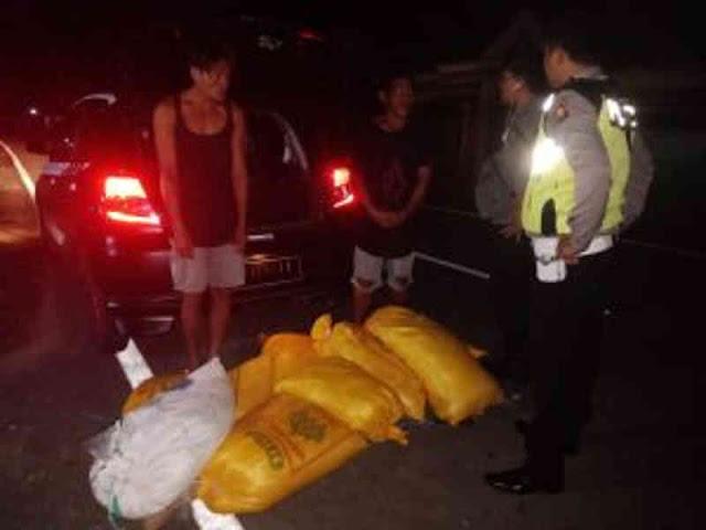 Polisi Gagalkan Penyeludupan 9 Karung Cap Tikus dari Oknum IRT di Dodinga