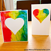no mess rainbow heart art and craft for toddlers
