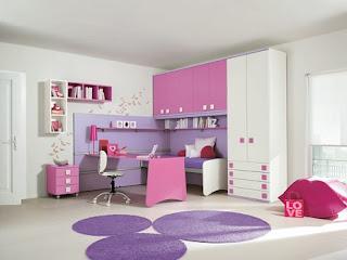 cuarto en rosa y lila