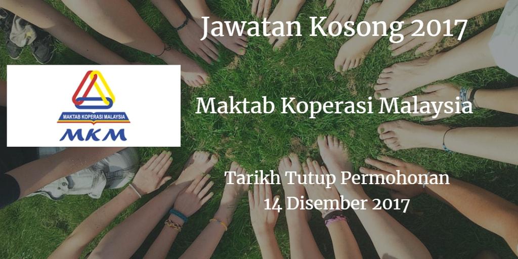 Jawatan Kosong MKM 14 Disember 2017