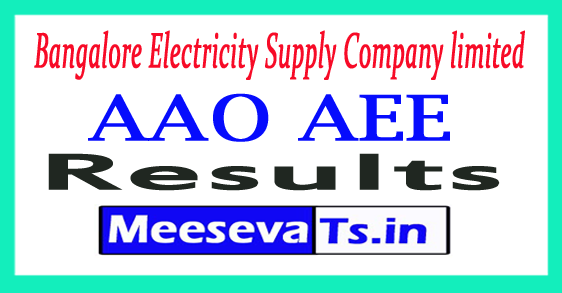 Bangalore Electricity Supply Company Limited  AAO AEE Result 2017