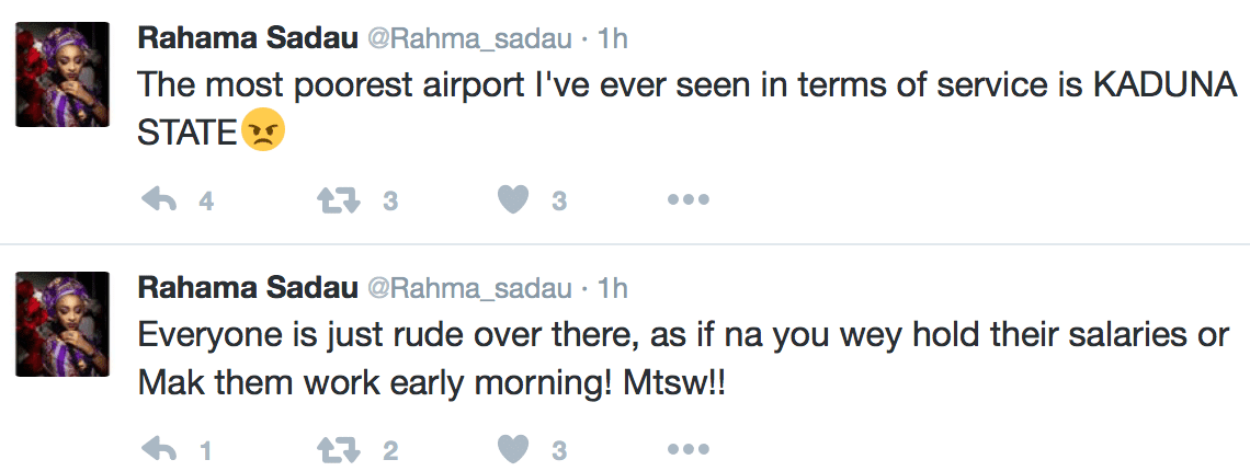 Image result for Actress, Rahama Sadau, Slams Kaduna Airport Over Their Rude Staffs