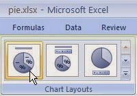 Changing Layouts of Pie Charts in Excel