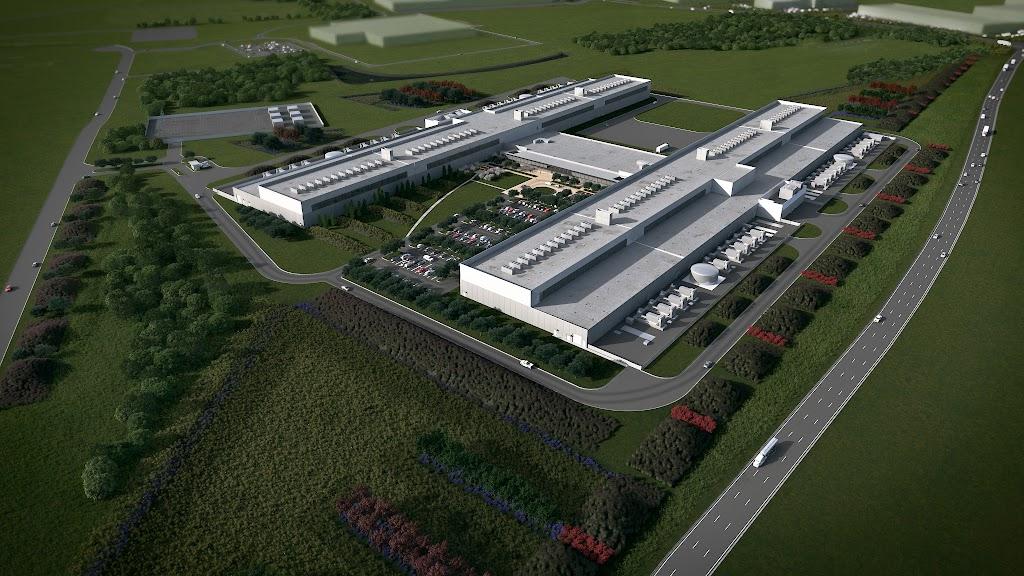 臉書第五座資料中心設計圖,位於美國德州沃思堡(Fort Worth)。