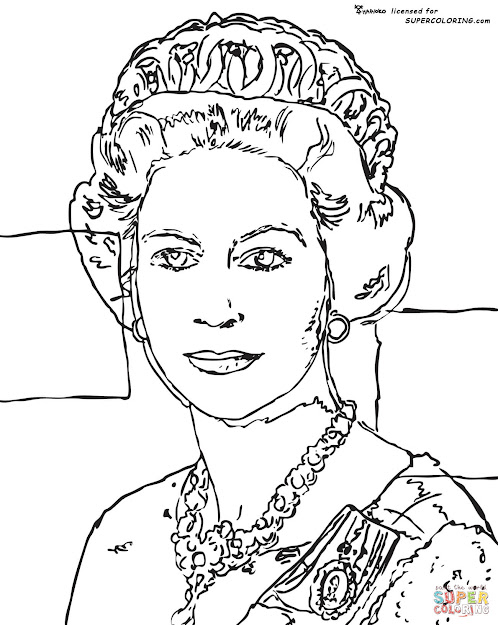 Click The Queen Elizabeth By Andy Warhol Coloring Pages