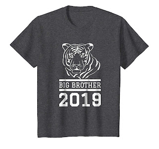 Great Gift for Big Brother 2019 TIGER T-Shirt for Kids