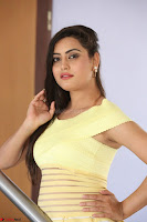 Shipra gaur in V Neck short Yellow Dress ~  015.JPG