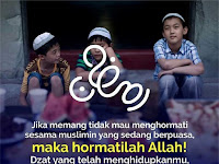 Kalau Tidak mau Hormati Sesama Muslim yang Berpuasa, Maka Hormatilah Allah