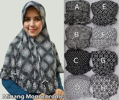 Grosir Jilbab Minang Monochrome
