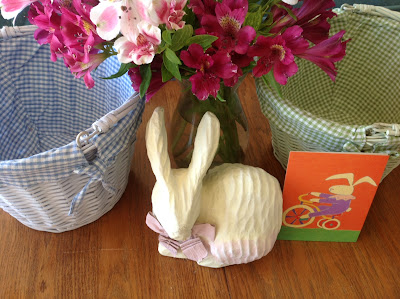 Easter baskets and decorations
