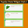 Customize Popular Post Widget In Blogger - Style 1