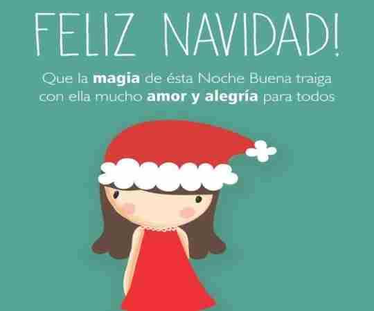 La magia de la navidad eres tu, felices fiestas