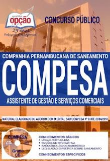 baixe Apostila Concurso COMPESA 2018 PDF