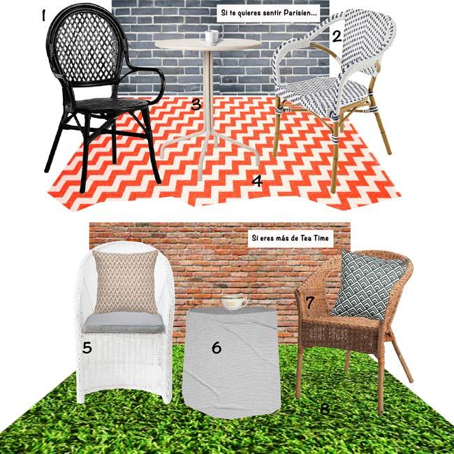 PatiGubieda Muebles para tu Balcn o Terraza
