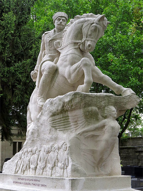 Equestrian statue of General Andranik, Armenian National Hero, Père Lachaise Cemetery, Paris