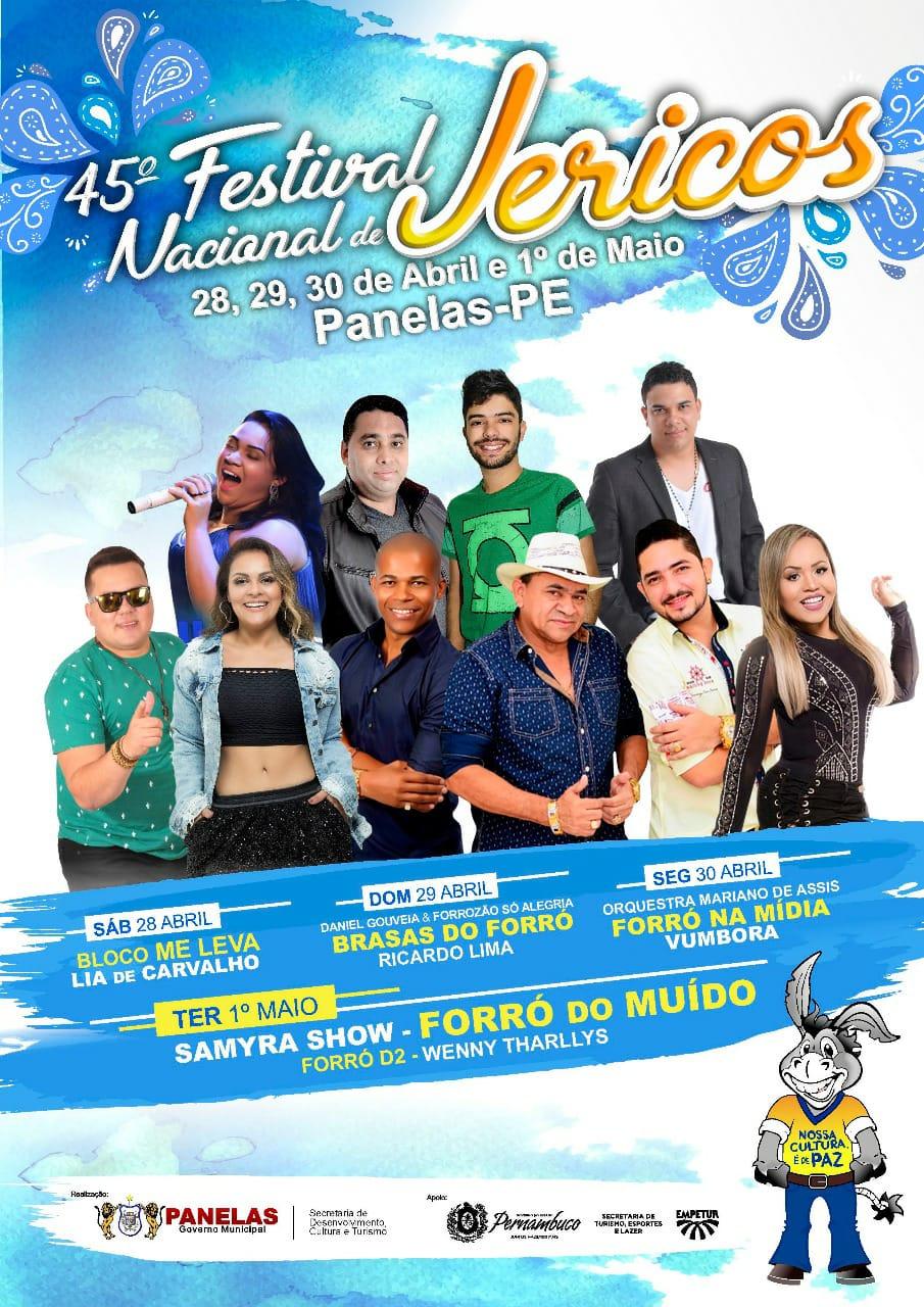 atrações do Festival Nacional de Jericos 2018