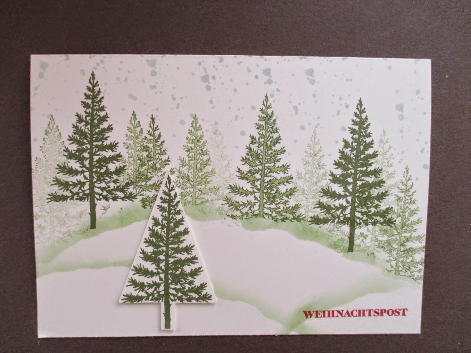 sconebeker stempelscheune weihnachtskarte mit dem stampin. Black Bedroom Furniture Sets. Home Design Ideas