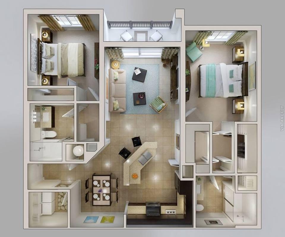 50 Denah Rumah Minimalis 3d 3 Kamar Tidur 2 Lantai