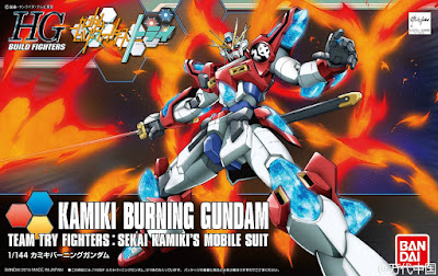 Kamiki Burning Gundam tratto da Gundam Build Fighters