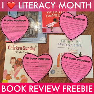 "This FREE RESOURCE featuring ""conversation hearts"" about what kids are reading are sure to spark motivation about popular books in your school. Use them in February or any time of year for that matter! Check out this post for parental involvement ideas."