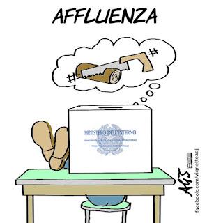 ballottaggi, affluenza, elezioni amministrative, vignetta, satira