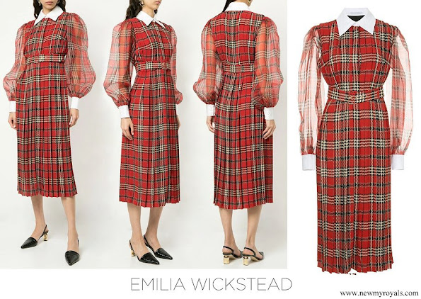 Kate Middleton wore Emilia Wickstead pleated tartan dress
