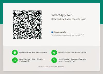 Menu Scan Code Whatsapp Hack Akun WA