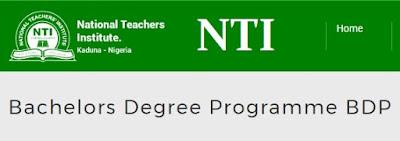 NTI BACHELORS DEGREE PROGRAMME (BDP)