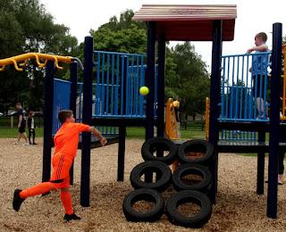 tyres making park climbing frame