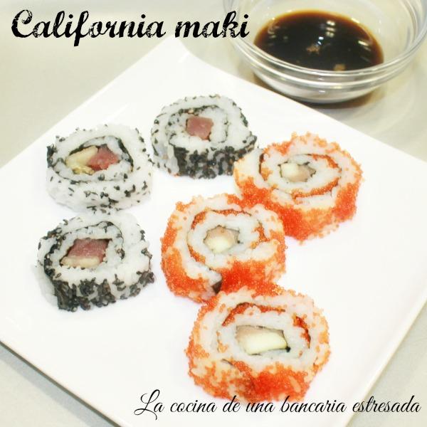 Receta sushi, california maki