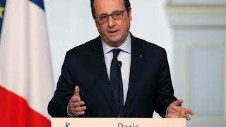 Ο Πρόεδρος Ολάντ. Προβλέπει ότι η Γαλλία θα δεχθεί 30.000 πρόσφυγες σε μια περίοδο δύο ετών.