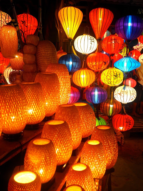 Coloured lanterns in Hoi An night market, Vietnam