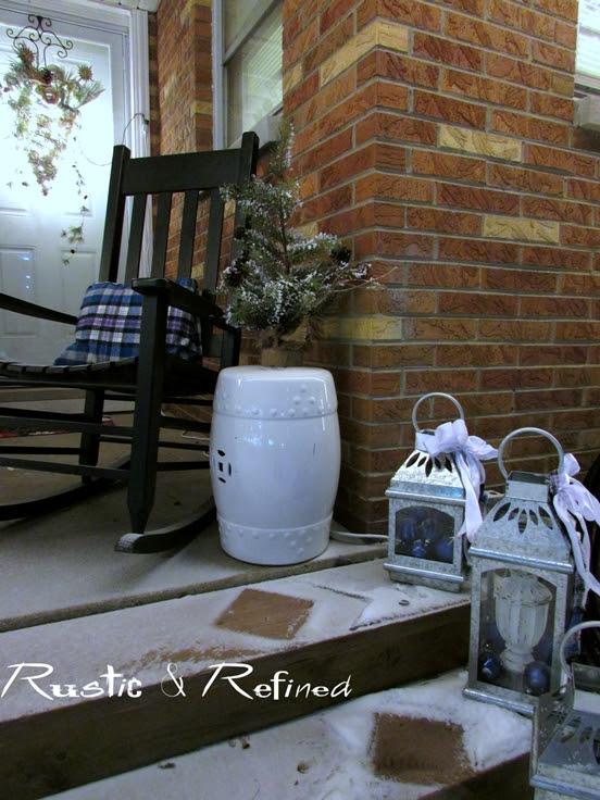 Decorating a porch for Christmas