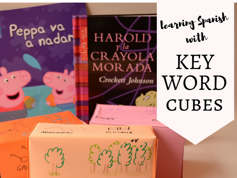 Practical Mom:Learning Spanish with KEY WORD CUBES! Makes reading the book AND learning new words fun!