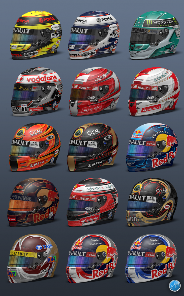 Supla's helmet pack 5 - F1 Fast Lap - The Beauty and Passion of