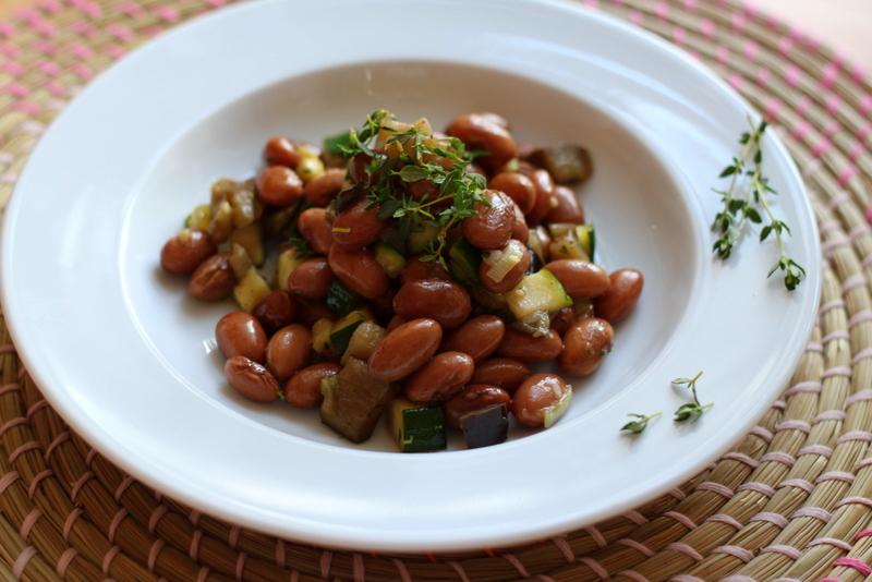 Köksje-Salat mit Auberginenwürfeln und sautierter Zucchini | Arthurs Tochter Kocht by Astrid Paul