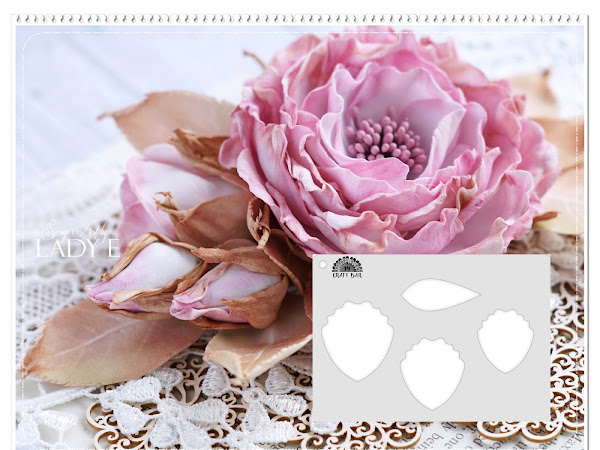 Shabby Chic Foamiran Rose & Flower Making Stencils