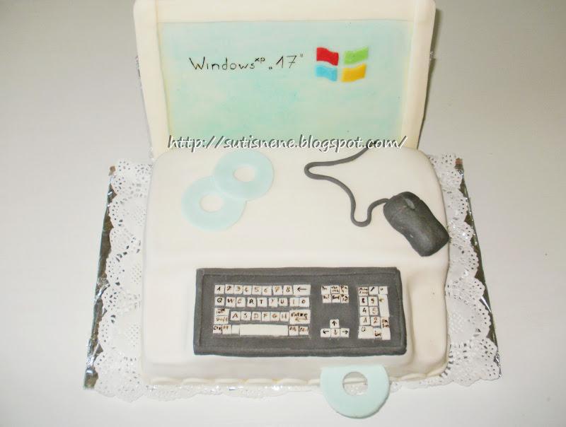 számítógép torta képek Sütis néne sütödéje: Számítógépes torta számítógép torta képek