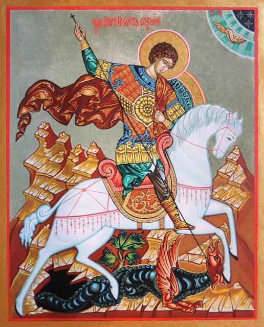 Icono ortodoxo búlgaro de San Jorge