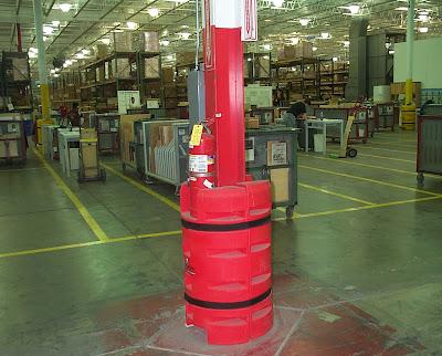 Vị trí để bình chữa cháy thích hợp ở nhà xưởng