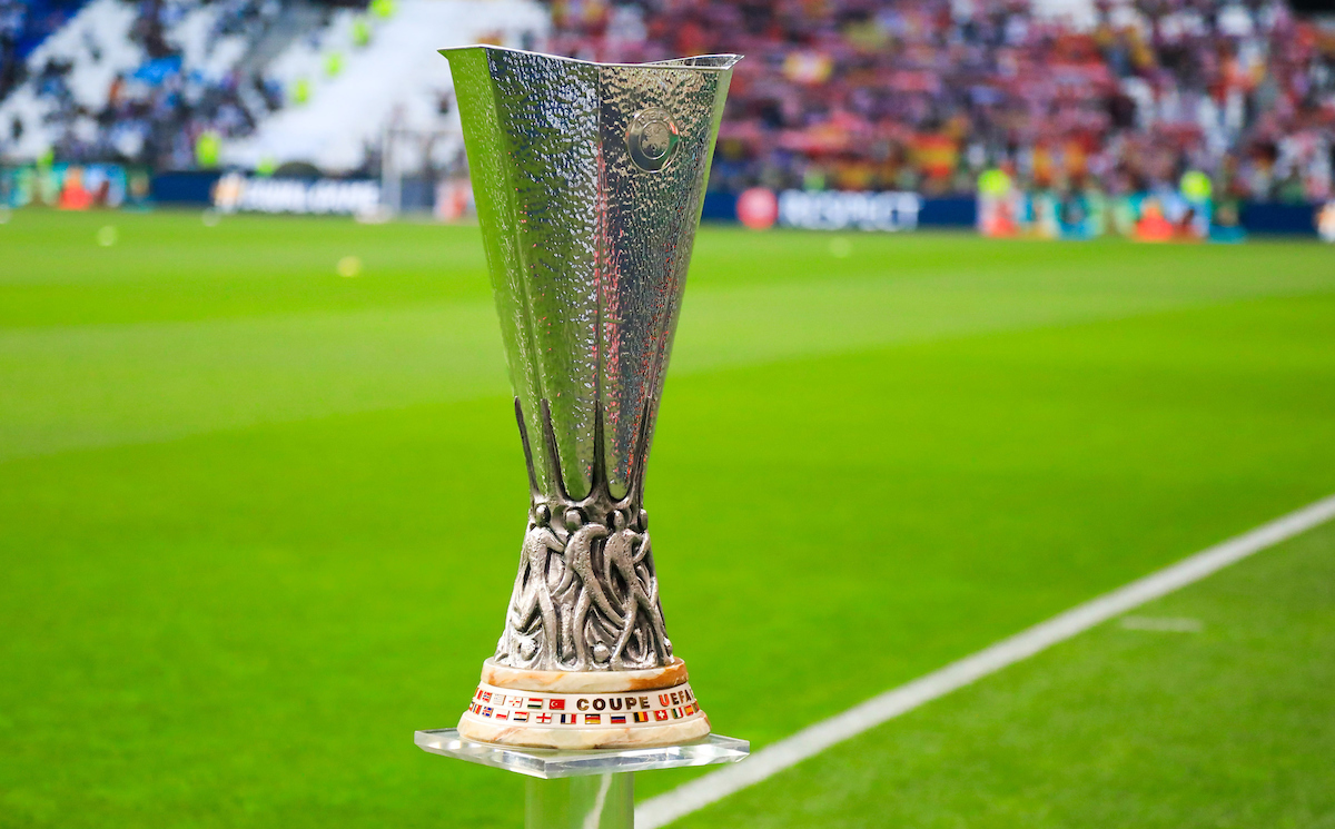 Illustration Trophy before the Europa League Final match between Marseille and Atletico Madrid at Groupama Stadium on May 16, 2018 in Lyon, France.