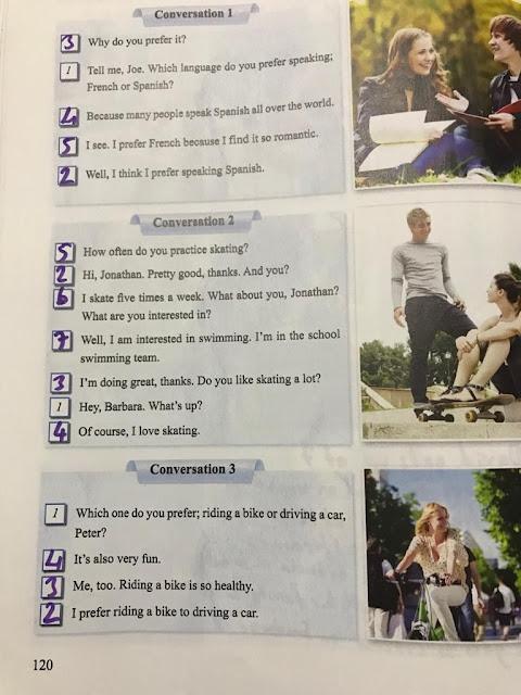 8. Sınıf Tutku Yayınları İngilizce 120. Sayfa Self Study Activites Cevapları