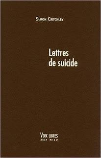 Lettres De Suicide de Simon Critchley PDF