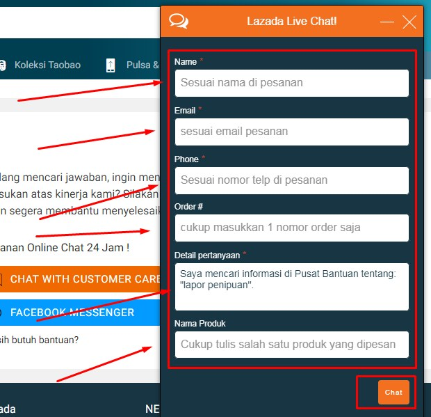 Customer Service Lazada Via Live Chatting Terbaru 2019 iv