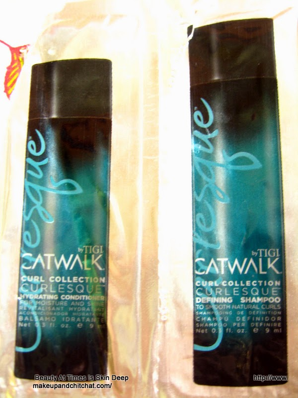 Review of TIGI Catwalk Curl Collection Curlesque Shampoo and Conditioner